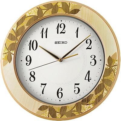 SEIKO精工 木質時尚滑動式秒針掛鐘(QXA708A)-39.5cm