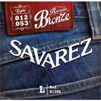 Savarez A130L 黃銅民謠木吉他弦 12-53