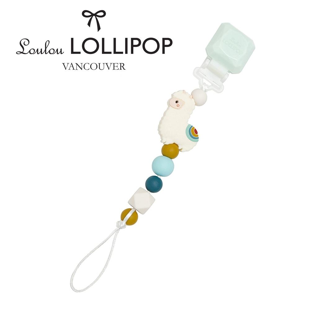 加拿大Loulou lollipop甜心版串珠固齒器/奶嘴鍊夾-民族風草泥馬