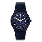 Swatch 51號星球機械錶SISTEM NOITE 格紋深藍