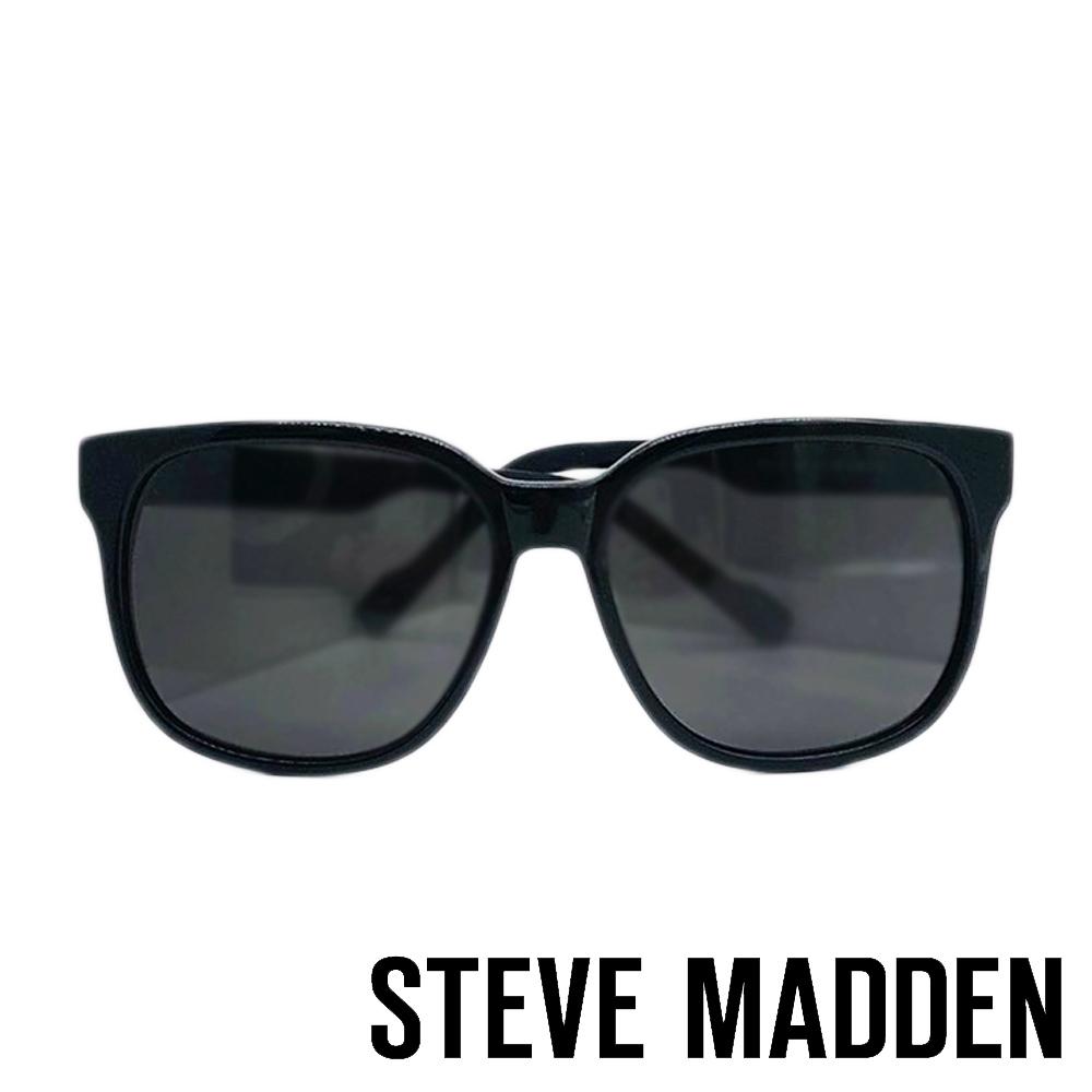 STEVE MADDEN-MOTTAR 品牌時尚抗UV太陽眼鏡-圓框黑