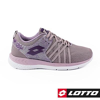 LOTTO 義大利 女 花漾雙密度跑鞋 (藕紫)