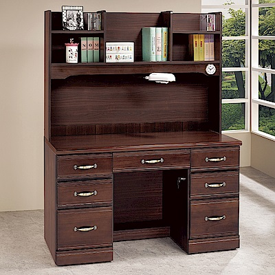AS-蘿拉4.2尺半實木書桌-124x59x165cm