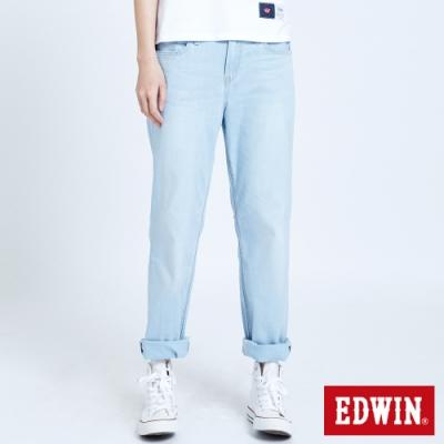 EDWIN 503 輕柔舒適 直筒牛仔褲-女-重漂藍
