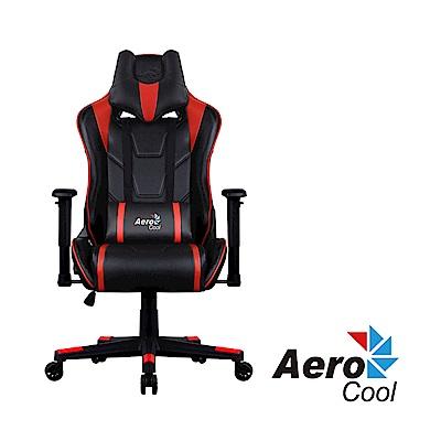 【Aerocool 愛樂酷 】AC220 AIR系列 競速超跑電競賽車椅(黑紅色)