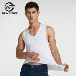 NEW FORCE 無痕冰絲涼感背心-白色