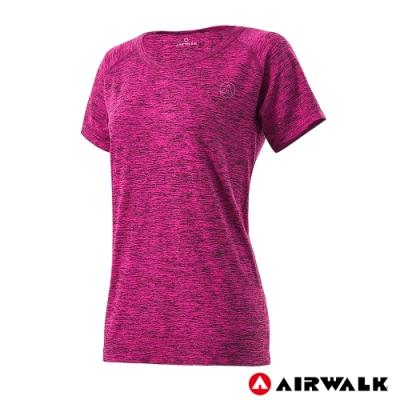 【AIRWALK】女款無縫吸排短T-共兩色