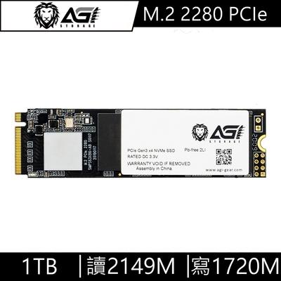 AGI亞奇雷 AI198 1TB M.2 2280 PCIe TLC固態硬碟