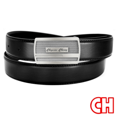 CH-BELT暢銷魅力風格紳士扣休閒皮帶腰帶(黑)