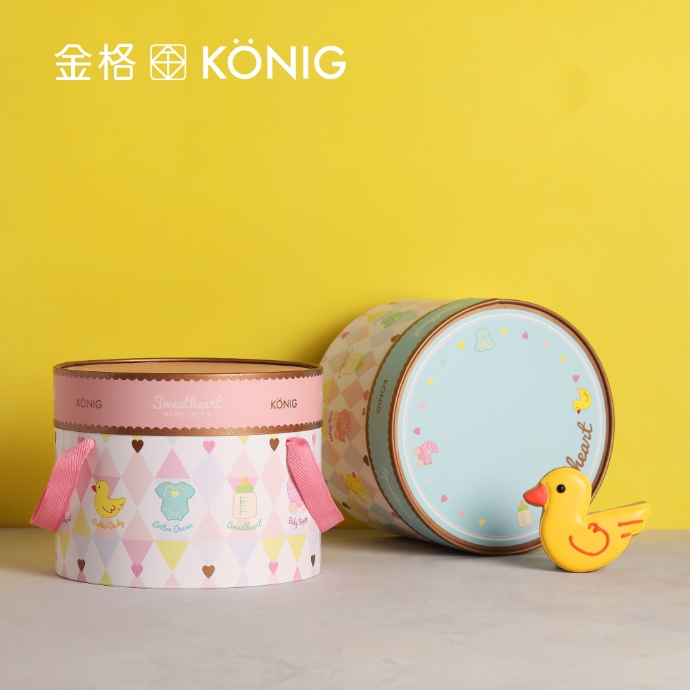 【金格食品】 小甜心糖霜彌月禮盒-粉