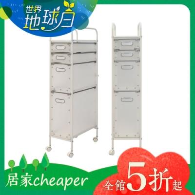 【居家cheaper】PP抽屜盒置物推車/台灣製/收納推車