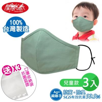 闔樂泰 奈米銀離子抗菌兒童口罩-3入(買就送口罩抗菌收納袋)