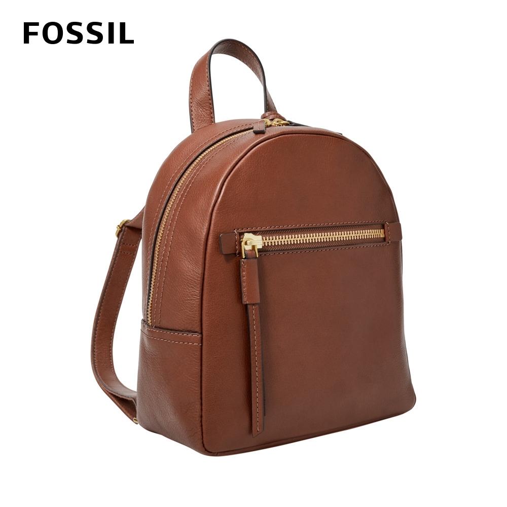 FOSSIL MEGAN 真皮小後背包-咖啡色 ZB7693200