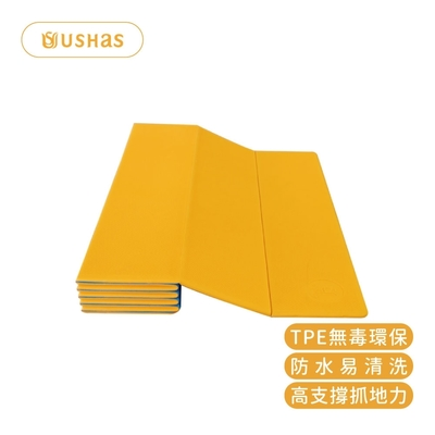 【台灣製造】USHAS TPE折疊瑜珈墊6mm 60*180cm厚度6mm TPE-6001