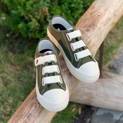 moz瑞典 厚底駝鹿魔鬼氈帆布餅乾鞋(仙人掌綠)