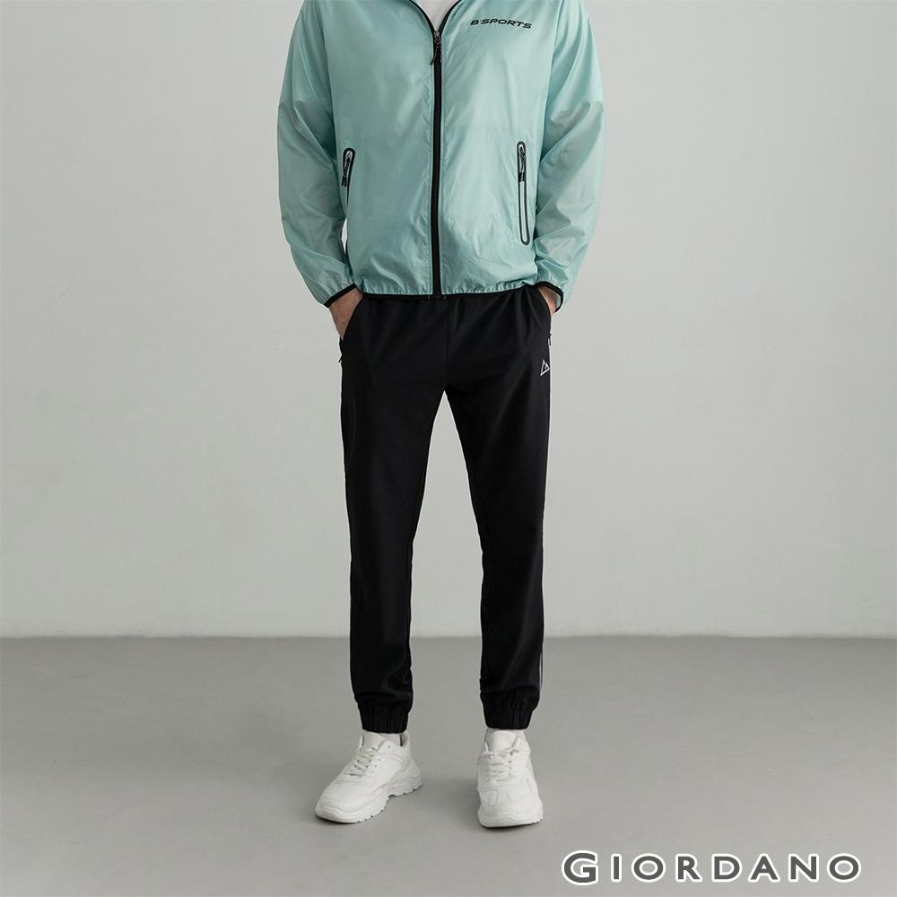 GIORDANO  男裝3M運動透氣束口褲 - 09 標誌黑