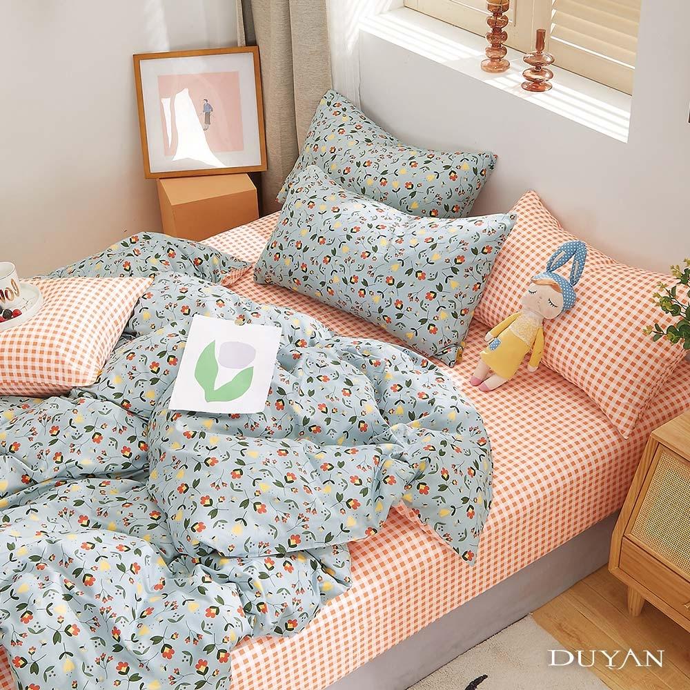 (均一價)DUYAN竹漾-100%精梳純棉-單/雙/大床包被套組-多款任選 台灣製 (凝霜花畔)