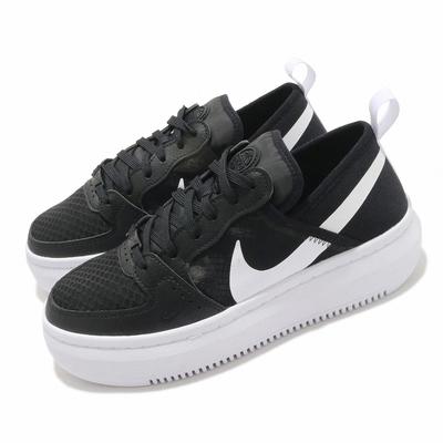 Nike 休閒鞋 Court Vision Alta 女鞋 基本款 簡約 厚底 舒適 球鞋 穿搭 黑 白 CW6536001