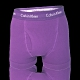 CALVIN KLEIN COTTON STRETCH 加長款純棉 平口四角褲 CK內褲 - 紫色 product thumbnail 1