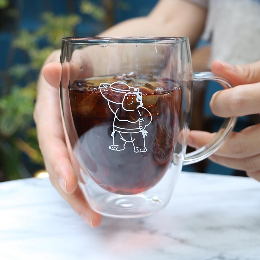 大金寶寶 玻璃隔熱雙層杯 把手款