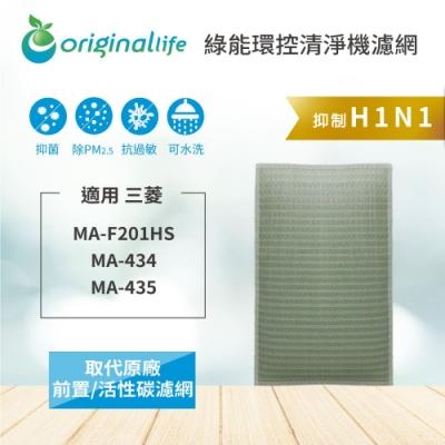 Original Life適用三菱:MA-F201HS 可水洗清淨型清淨機濾網