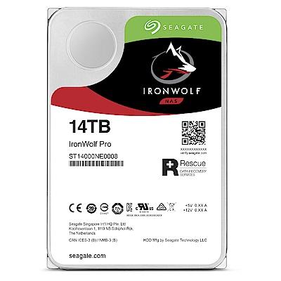 Seagate那嘶狼IronWolf Pro  14 TB  3 . 5 吋 NAS專用硬碟