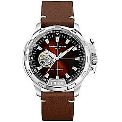 Giorgio Fedon 1919 TIMELESS IX系列開芯機械腕錶-褐色