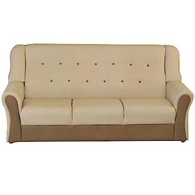 綠活居 隆尼雙色貓抓皮革三人座沙發椅-187x84x88cm免組