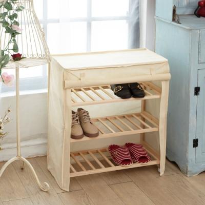 IKLOO宜酷屋_木質大容量防塵鞋櫃/捲簾鞋櫃