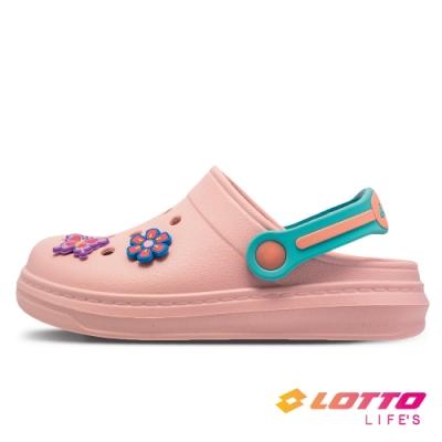 LOTTO 義大利 童鞋 FANO 輕涼拖鞋(粉)