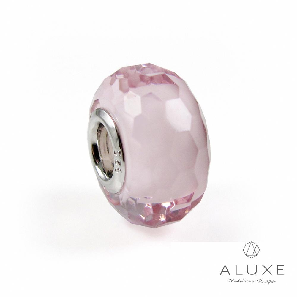 Charming系列 925純銀珠飾-粉紅冰晶 Pink crystal