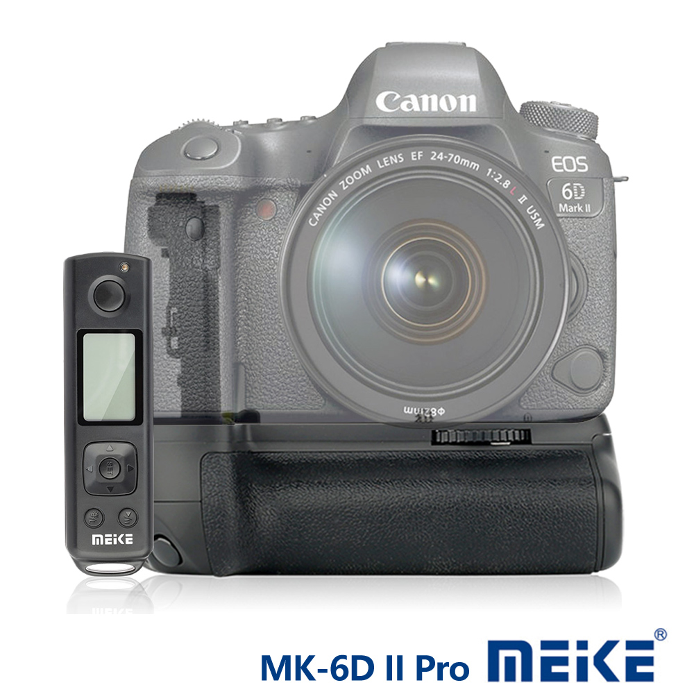 Meike 美科 Canon 6D II Pro 垂直手把(附遙控器) BG-E21