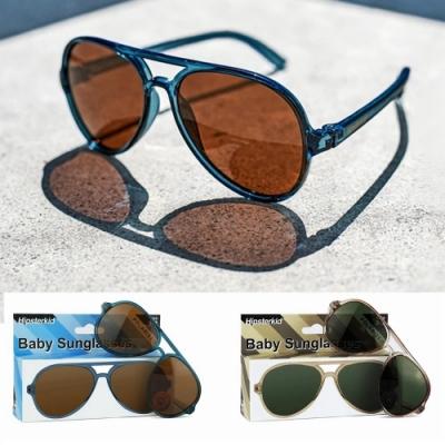 美國Hipsterkid 抗UV偏光嬰幼兒童太陽眼鏡(附固定繩) - 奢華飛行員