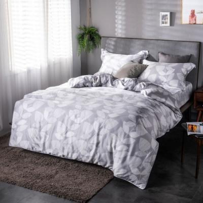 夢工場玉雪非花40支紗萊賽爾天絲四件式兩用被床包組-加大