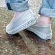 樂嫚妮 輪胎紋防滑耐磨加厚防水矽膠鞋套-透明 (附贈防水收納袋) product thumbnail 1