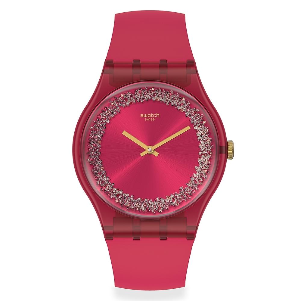 Swatch 菁華系列手錶 RUBY RINGS 繽紛紅-41mm
