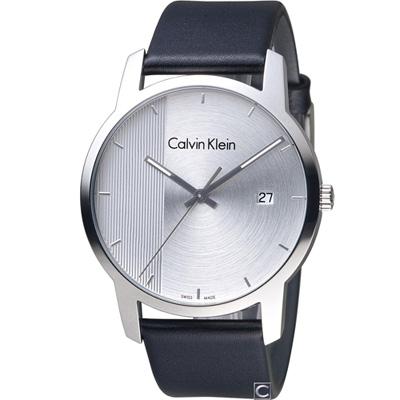 Calvin Klein City 都會系列時尚腕錶(K2G2G1CX)銀/43mm