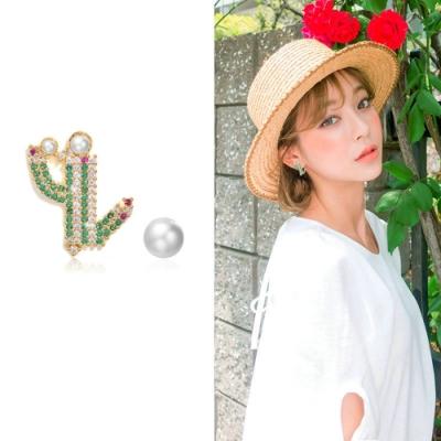 梨花HaNA 韓國925銀熱帶的她和仙人掌朋友耳環
