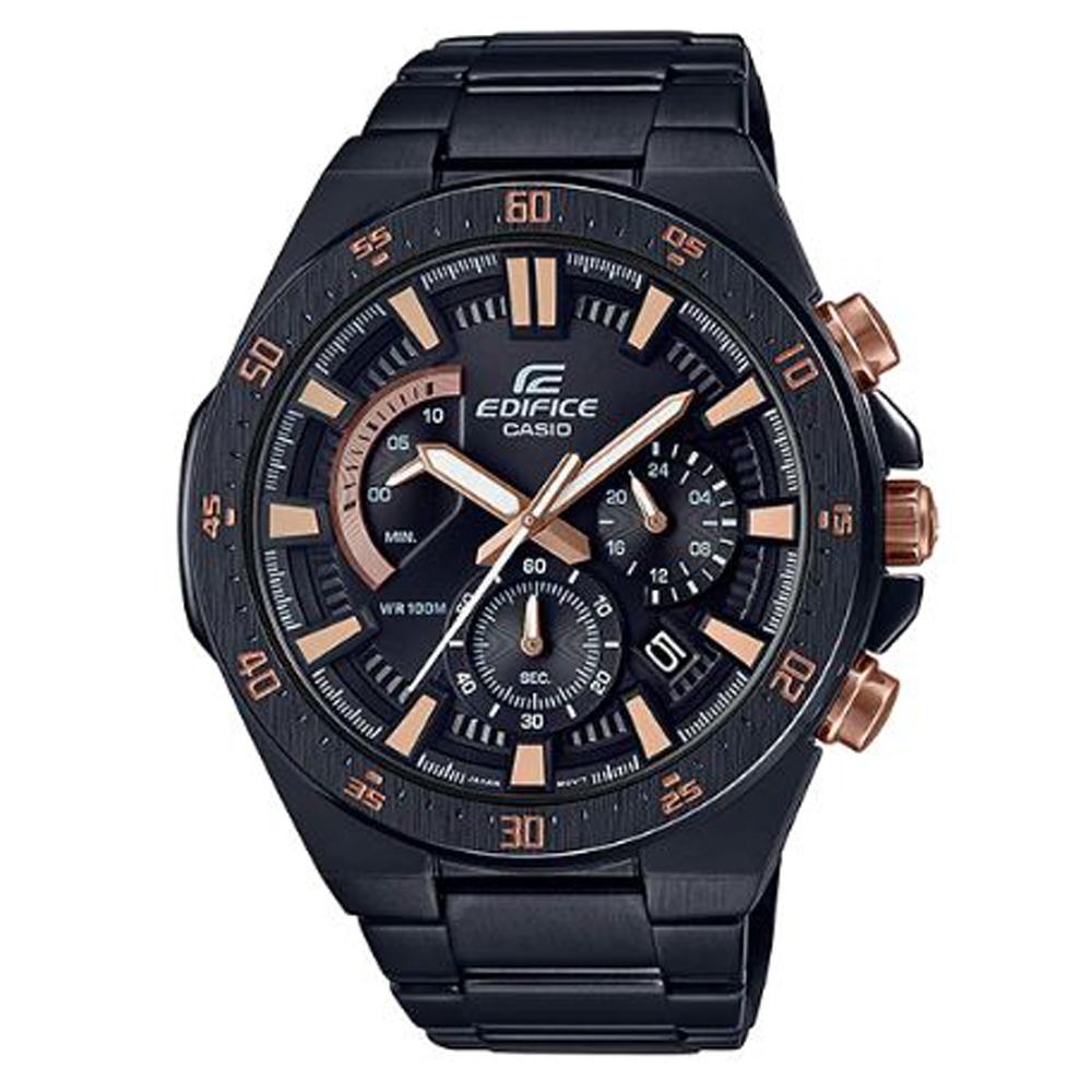 EDIFICE光榮徽章最終鬥士賽車腕錶(EFR-563DC-1)玫瑰金X黑/48.9mm