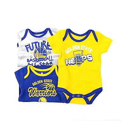 NBA 新生兒包屁衣三件組 勇士隊