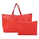TUMI  VOYAGEUR 尼龍簡約摺疊手提旅行袋-夕陽紅