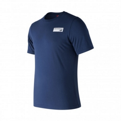 New Balance 探險系列短袖T恤 AMT83581MCT 男性 藍色
