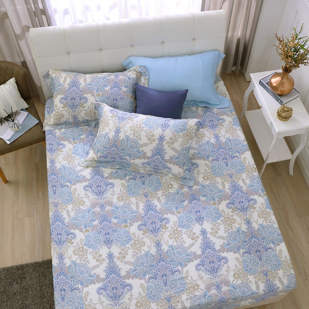 鴻宇 雙人加大床包枕套組 天絲300織 柏拉圖 台灣製