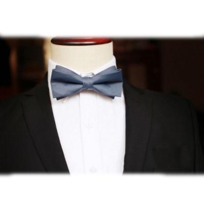 Laifuu拉福,剪翼精品中折領結新郎結婚領結糾糾(灰色款)