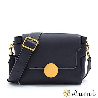 WuMi 無米 瑪格莉特法式圓釦包 深靛藍
