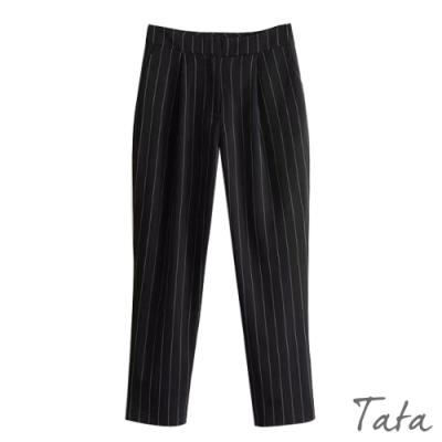 直條紋修身西裝褲 TATA-(S~L)