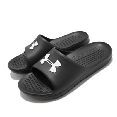 UA 涼拖鞋 Core PTH 套腳 穿搭 男女鞋 輕便 夏日 大logo 情侶款 快速排水 黑 白 3021286001