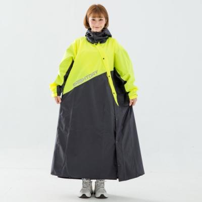 [時時樂限定]X武士斜開連身式風雨衣-螢光