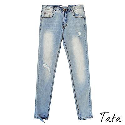 褲腳不規則破壞牛仔褲 TATA