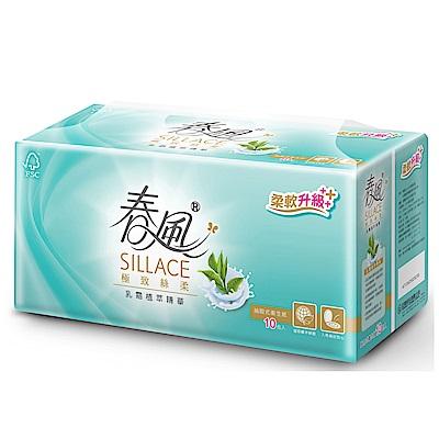 春風SILLACE乳霜植萃抽取衛生紙 110抽x10包x6串/箱